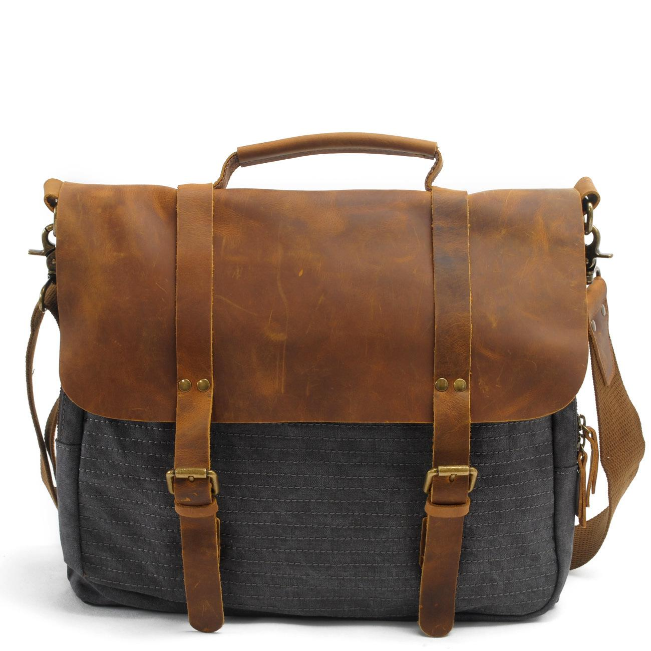 2016 Real Promotion Totes Vintage Military Canvas Crazy Horse Men Bags Carry On Laptop Duffel Bag Tote Large Weekend Overnight augur new canvas leather carry on luggage bags men travel bags men travel tote large capacity weekend bag overnight duffel bags