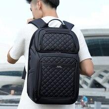 Роу мужчины рюкзак многофункциональный кабель USB 17-дюймовый ноутбук рюкзак мода бизнес большой емкости водонепроницаемый путешествия для