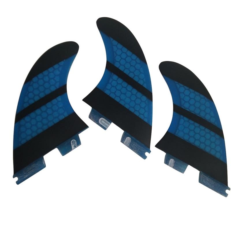 Surf FCS II G5 Fins, Fcsii Blue Fiberglass Honeycomb Fin FCS 2 SUP Board God Kvalitet FCS2 Fins