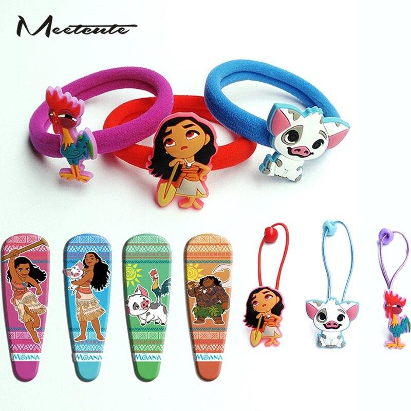 Meetcute 3 шт./компл. мультфильм Моана принцесса Vaiana заколка для волос для девочек высокое качество волос заколки для волос Детские