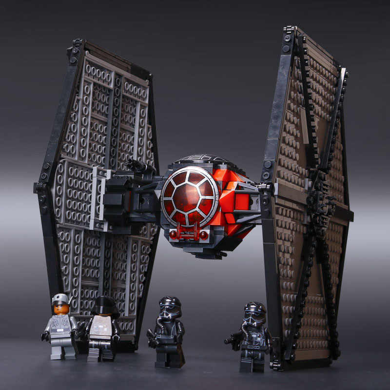Star Wars First Order Special Forces TIE fighter Compatible for LEGOs 75101  StarWars Model Building Blocks Toys For Children