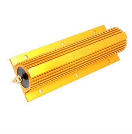 Livraison gratuite RXG24 500 W 0.01r puissance coque métallique or boîtier en Aluminium résistance 500 W 0.01ohm 5% résistances 0.01R 500 W valeur personnalisée