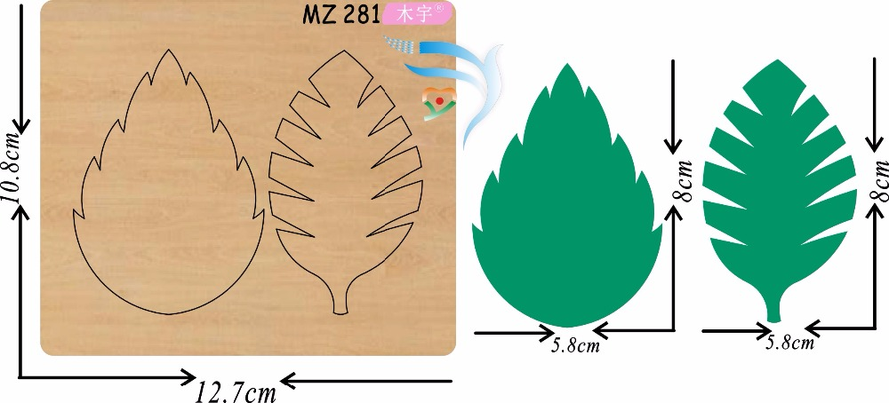 Beautiful leaves new wooden mould cutting dies for scrapbooking Thickness 15 8mm