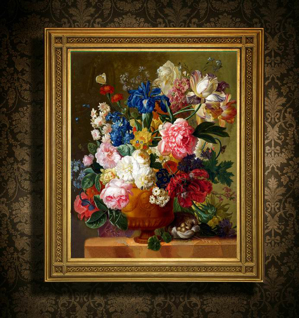 Needlework,DIY DMC Cross stitch,Set For Embroidery kit,table vase floral flower Pattern Count Cross-Stitch,wholesale Sewing Kit