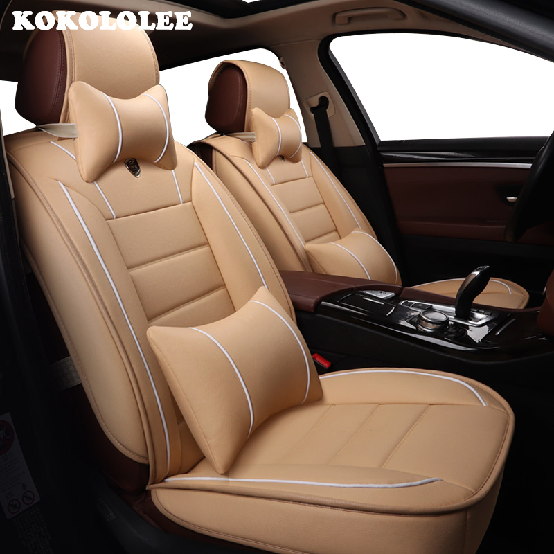 kokololee Front Rear Special pu Leather font b car b font seat cover For MG GT