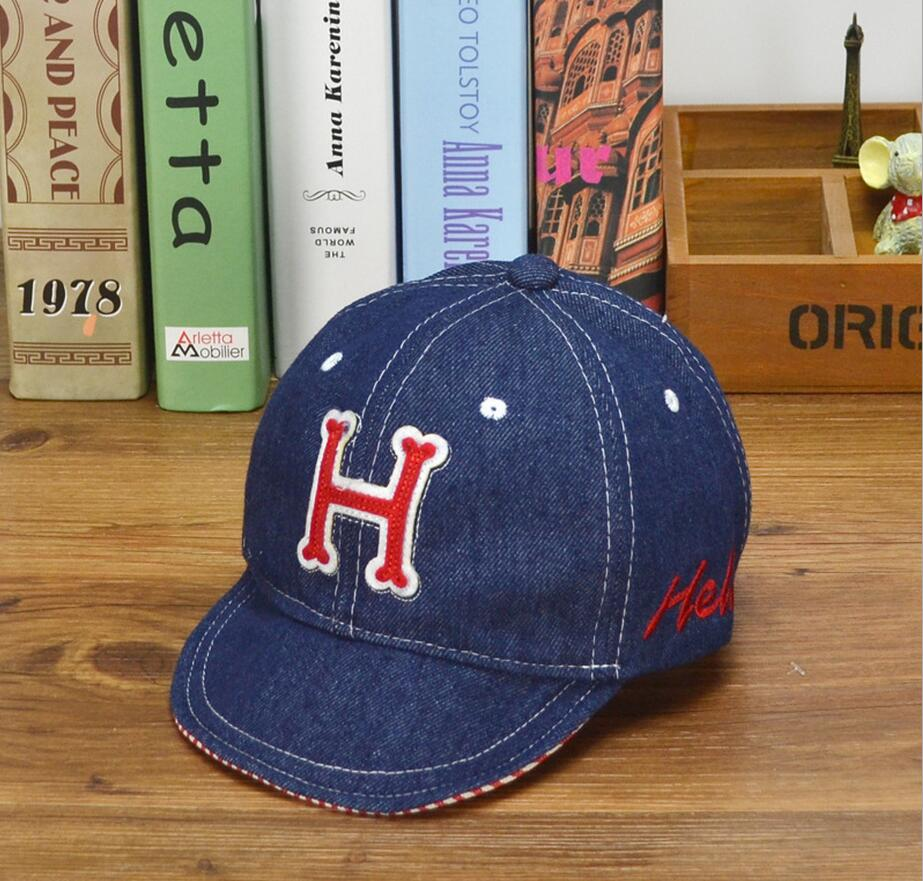 1PC 3colors Embroidered Hello H Baby Summer Hats for Boy Baseball Cap  Adjustable Circumference 50cm 388230aef6b