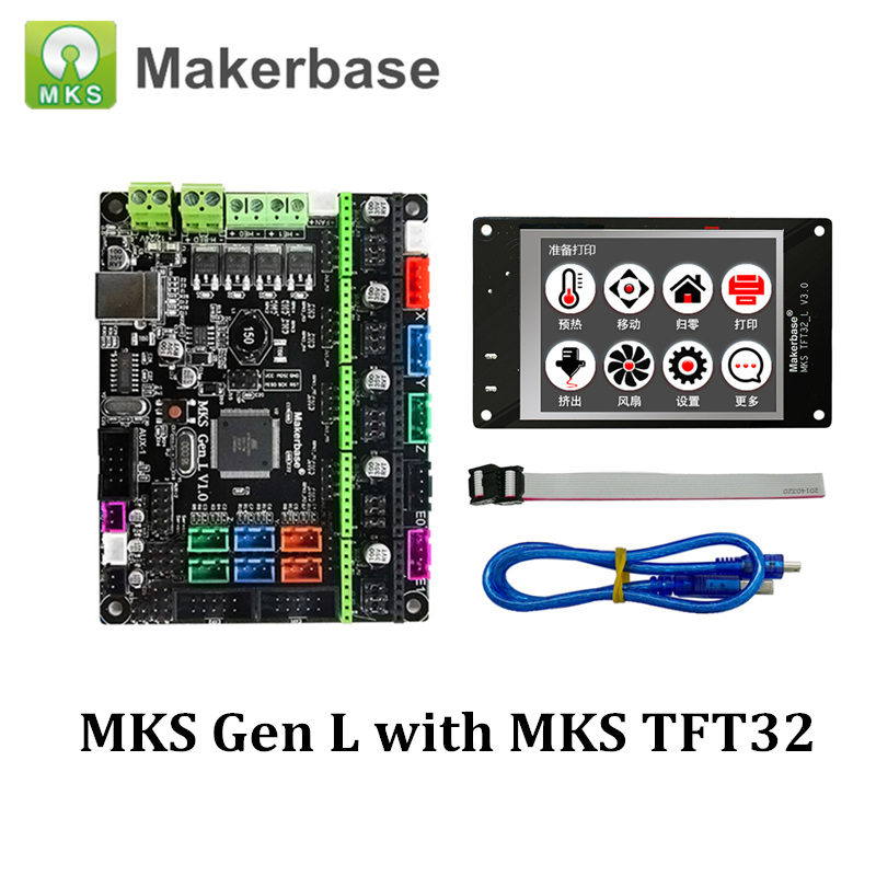 3D Printer Control Board MKS Gen L V1 0 with MKS TFT32 Compatible for Ramps1 4