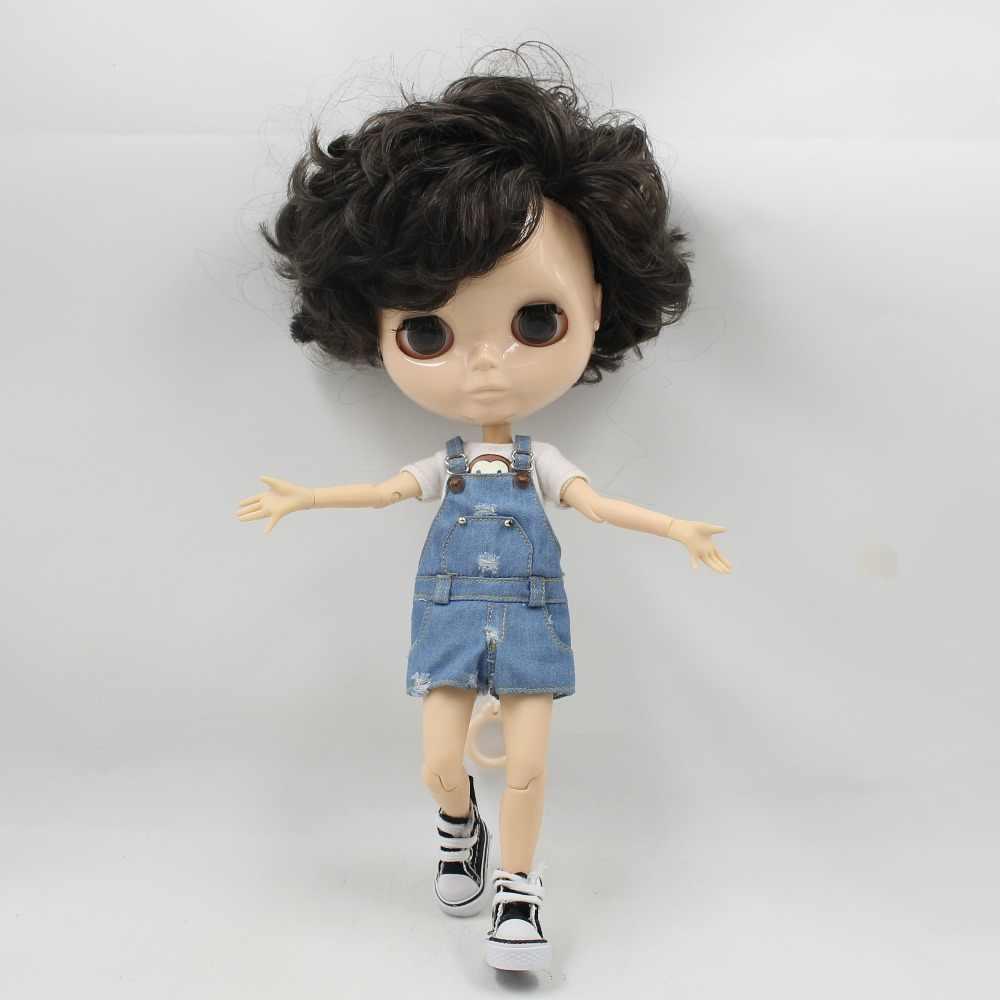 Ледяная фабрика blyth кукла 1/6 игрушка мальчик тело bjd белая кожа блестящее лицо без макияжа 30 см голая кукла