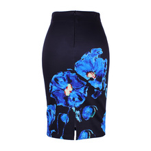 Flower print women pencil skirts ( M-XXL )