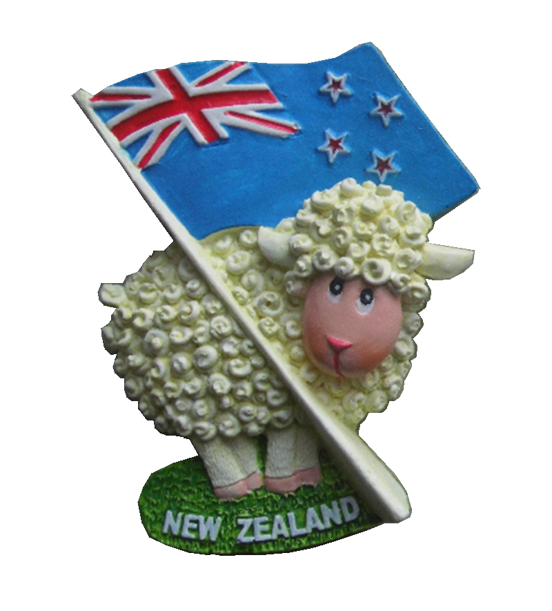 Creative Sheep <font><b>New</b></font> <font><b>Zealand</b></font> Flag Hand-Painted Aromatherapy 3D <font><b>Fridge</b></font> <font><b>Magnets</b></font> Travel <font><b>Souvenirs</b></font> Refrigerator Magnetic Sticker image