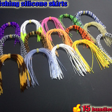 2017 fishing silicone skirts tab strips  total 15 bundles/lot the leng