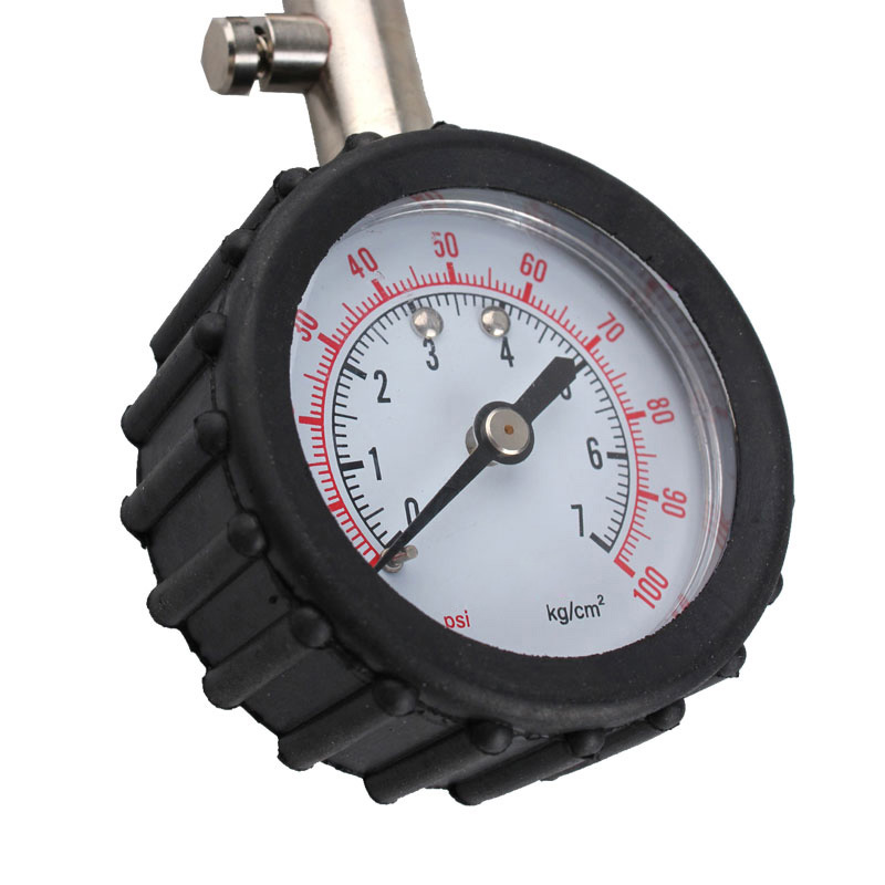 Long Tube Tyre Air Pressure Gauge 0-100 PSI Meter Vehicle Tester Auto Car Bike Motor Tyre Air Pressure Monitoring System