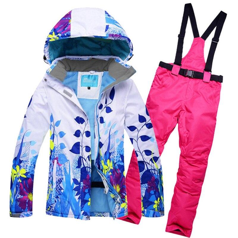 10 K Leader ventes vestes d'hiver femmes ski costume ensemble vestes et pantalons extérieur unique ski ensemble coupe-vent Therma ski snowboardl - 6