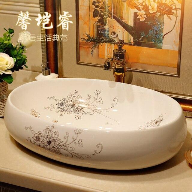 Bagno lavabo bagno arte bacino tavolo ovale lavabi da appoggio in ...