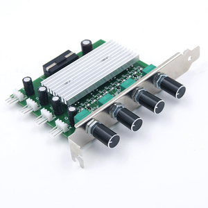 Image 3 - 컴퓨터 pc 냉각 라디에이터 시스템 4 채널 3 핀 4 핀 쿨러 팬 rpm 속도 컨트롤러 (팬 12 v 용 pci 슬롯 후면 브래킷 포함)