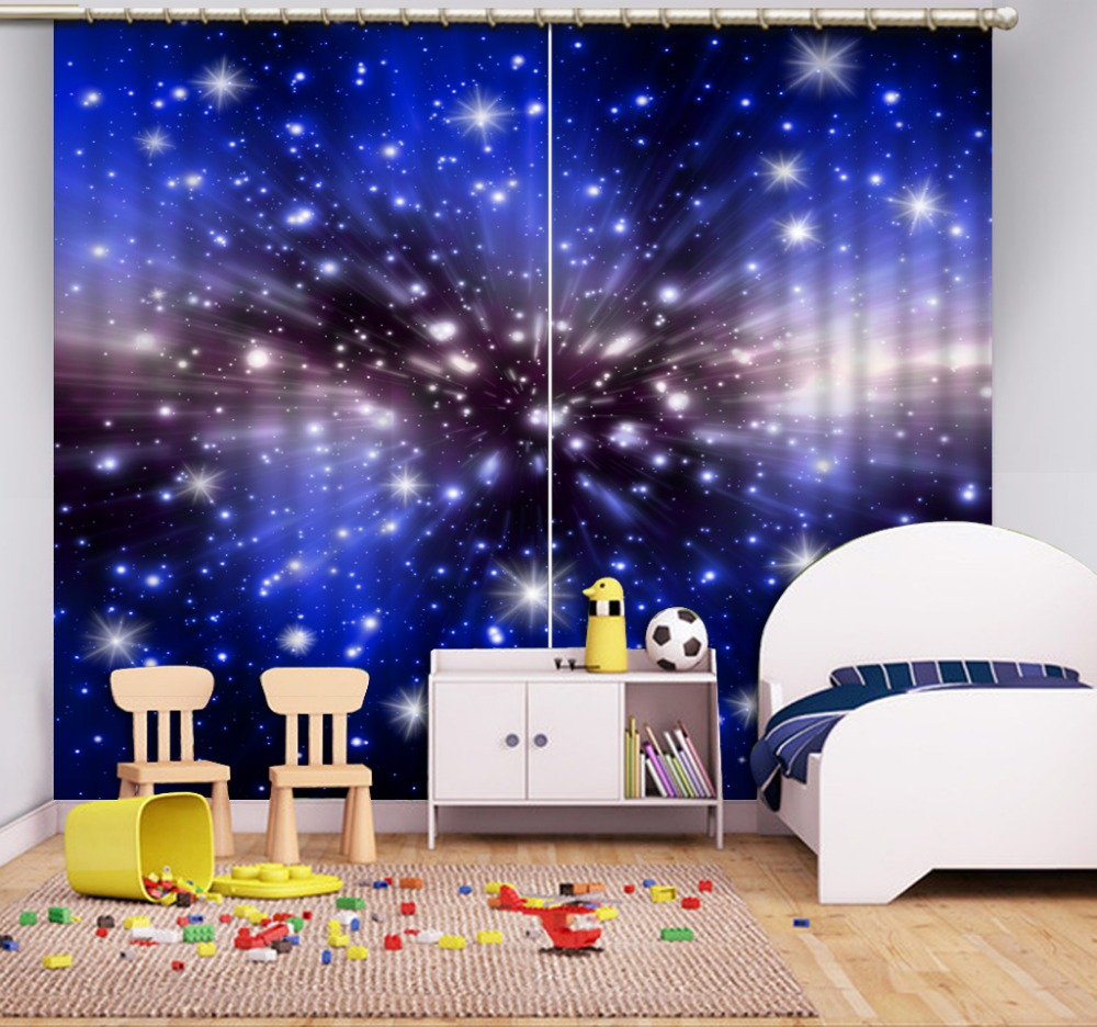 Window Curtain Living Room Dark Blue 3d Curtain Blackout Curtains For  Bedroom
