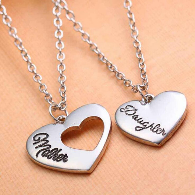 2pcs zinc alloy family love mother daughter necklaces pendants sets 2pcs zinc alloy family love mother daughter necklaces pendants setsmothers day gift fashionable female aloadofball Choice Image