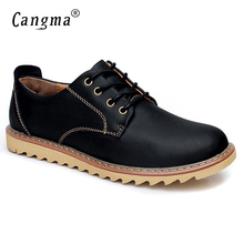 CANGMA 2017 New Style Men Casual Shoes Spring Autumn Handmade Lace Up Genuine Leather Italian Fashion Male Leisure Shoes Zapato