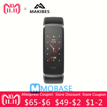 Makibes HR3 Bluetooth  Wristband Bracelet Heart Rate Monitor Android iOS Health Fitness Men Women Color Screen Sport Band