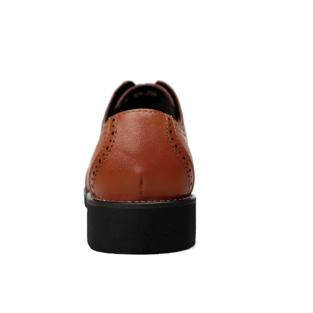 marrom Os black Genuíno Oxfords Vestem Moda Se Escritório Toe Homens De Sapatos Apontou Brogue Couro Preto 4Zw46Fqr8
