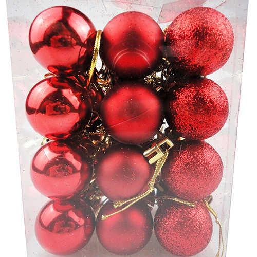 24 Buah/Banyak Menggantung Xmas Pesta Dekorasi untuk Rumah Natal Dekorasi 30 Cm Pohon Natal Dekorasi Bola Perhiasan
