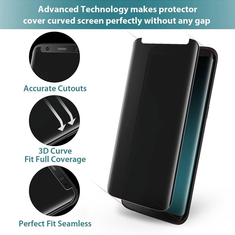 3D Full cover Case-Fit tempered glass For Samsung Galaxy S8 S8 plus Case friendly Privacy Anti spy Screen protector