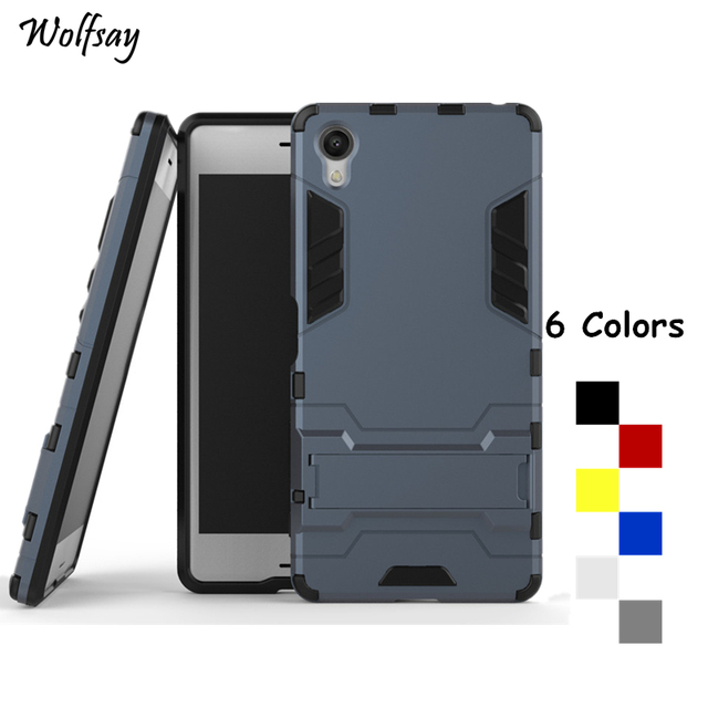 newest collection d8c32 fd862 US $2.68 37% OFF|Wolfsay For Cover Sony Xperia X Case F5122 F5121  Shockproof Robot Armor Phone Case For Sony Xperia X Phone Cover For Sony X  < -in ...
