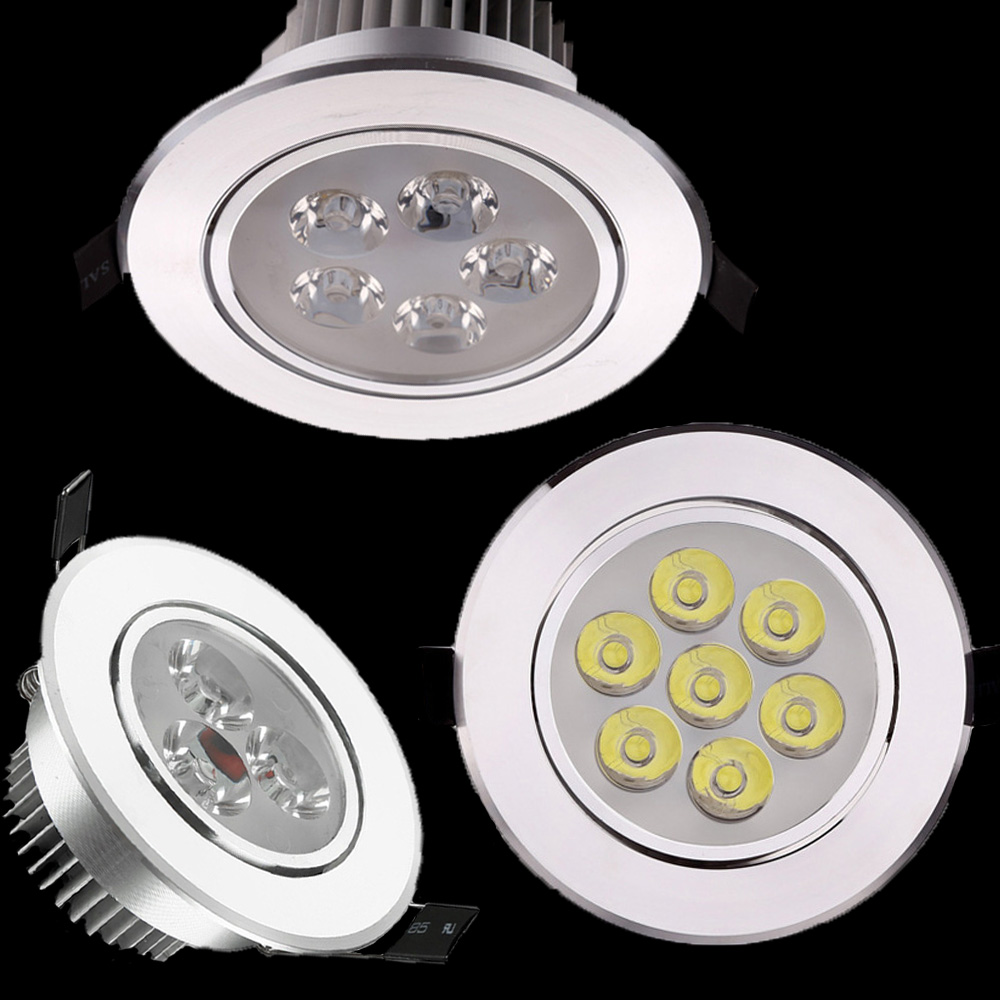 CREE 3W 5W 7W Led Downlight Spot light AC 85-265v Epistar Recessed Cabinet Wall Spot ceiling Lamp For Home Lighting new australian style 20w new very bright led cob chip downlight recessed led ceiling light spot light lamp white warm white