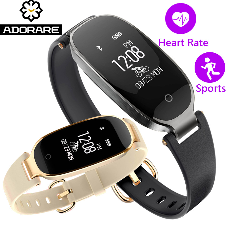 ADORARE S3 Bluetooth Smart Watch Women Ladies Heart Rate Monitor Fitness Tracker Smart Bracelet Fashion reloj For Android IOS цена