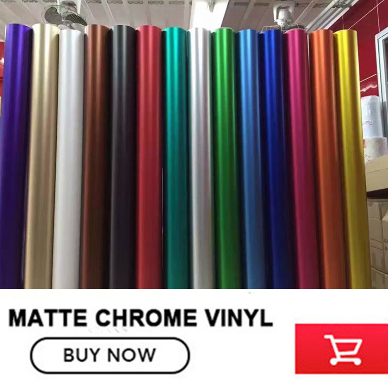 Classique bleu Profond Mat Chrome Vinyle mat Voiture De vinyle Wraps Autocollant Changement de Couleur film Autocollant De Voiture Avec la Bulle libre 12 couleur - 2