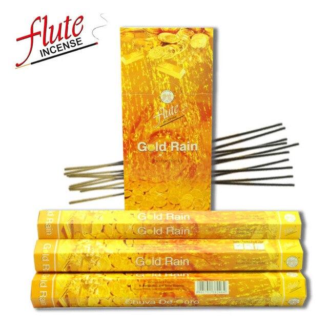 Flute 120 Sticks Pack Gold Rain Lax Cored Incense Sticks Handmade