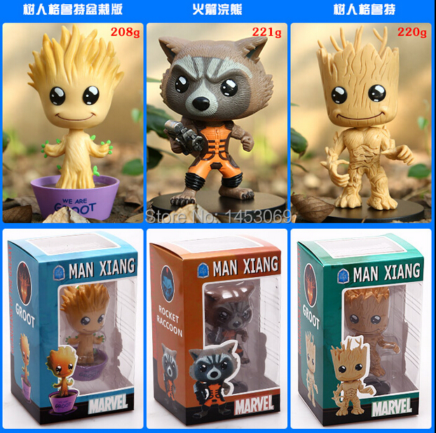 ФОТО guardians of the galaxy dancing baby groot rocket raccoon pvc action figure collectible toy doll