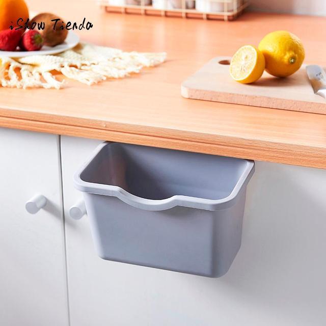 Кухонный шкаф дверь мусорный пакет с ручками мусорное ведро может мусорные ящики для хранения контейнеров шкаф дверь обратно Висячие банки