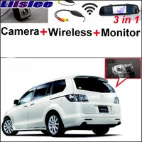 3 In1 Special Rear View Camera Wireless Receiver Mirror Monitor Easy Parking System For Mazda 8