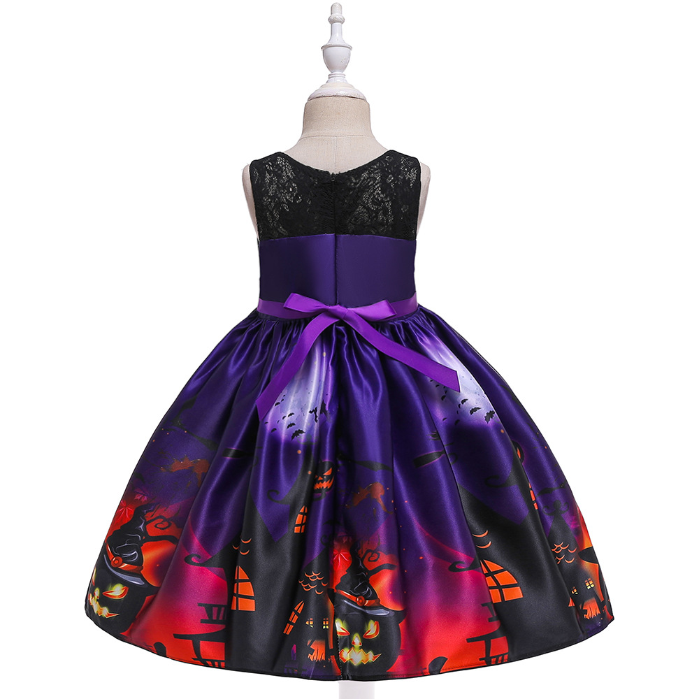 Girls Dresses For Kids 2019 Halloween Cosplay Party Dress Clothes Teens Princess Dress Hat Children Christmas Carnival Dresses (19)