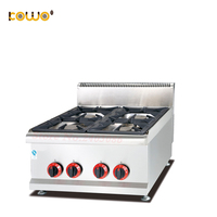 commercial stainless steel 4 burner lpg gas stove table top gas cooker kitchen appliances