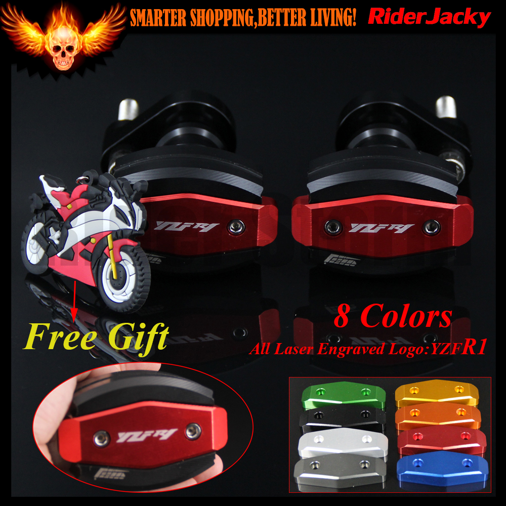 Motorcycle Dirt Bike CNC Frame Sliders Crash Pad Cover Falling Protector Guard For Yamaha YZF R1 YZF1000 YZF-R1 2007 2008 07-08 motorcycle fairings fit for yamaha yzf r1 yzf 1000 yzf r1000 yzf1000 2007 2008 07 08 abs injection fairing bodywork kit a0802