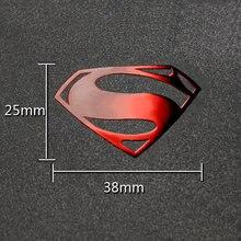 Superman Luxury Mobile Phone Laptop DIY Sticker Car Motorcycle Decal 3D Metal Stickers Kids Gift