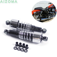 2pcs Chrome Motorcycles Special Shock Absorber 10.5'' Progressively Rear Suspension For Harley Sportster Touring Dyna 1988 2017