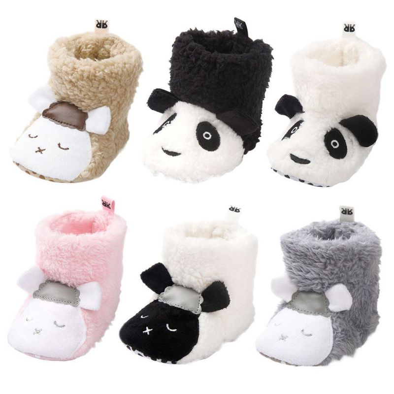 Winter Baby Shoes Newborn Plush Cartoon Cute Baby Girl Shoes Warm Fashion First Walkers Baby Boy Shoes Princess Baby Girl Shoes