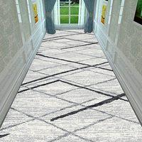 Nordic Treppen Teppich Europäischen Korridor Teppiche Hotel Lange Gang Teppich Hause Eingang/Flur Fußmatte Anti-Slip Hochzeit Boden teppiche