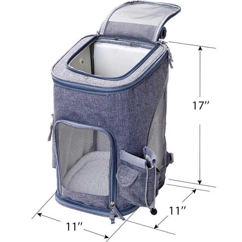 Дорожная сумка для переноски кошек на открытом воздухе, корзина для собак, Воздухопроницаемый рюкзак для собак, кошек, щенков, сумка на плечо для маленьких собак, домашних животных
