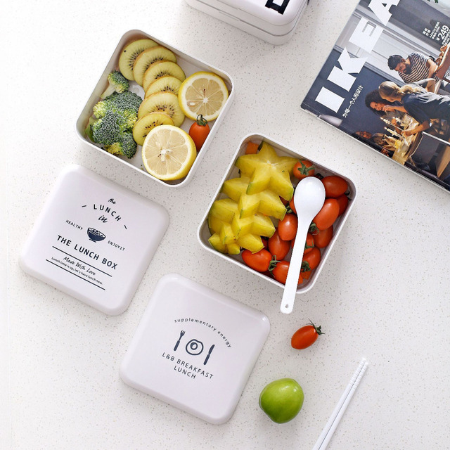 Portable Square Lunch Box