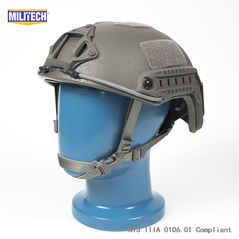 ISO Certified MILITECH 1.25KG Lite FG Super High Cut Aramid Ballistic Helmet Light Weight SWAT Bulletproof Helmet DEVGRU SEALISO Certified MILITECH 1.25KG Lite FG Super High Cut Aramid Ballistic Helmet Light Weight SWAT Bulletproof Helmet DEVGRU SEAL