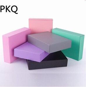 Image 1 - 10 sztuk różowy/czarny/zielony/szary pudełko na papier tektura falista prezent pudełko opakowanie na kosmetyki kartonowe pudełka kartonowe