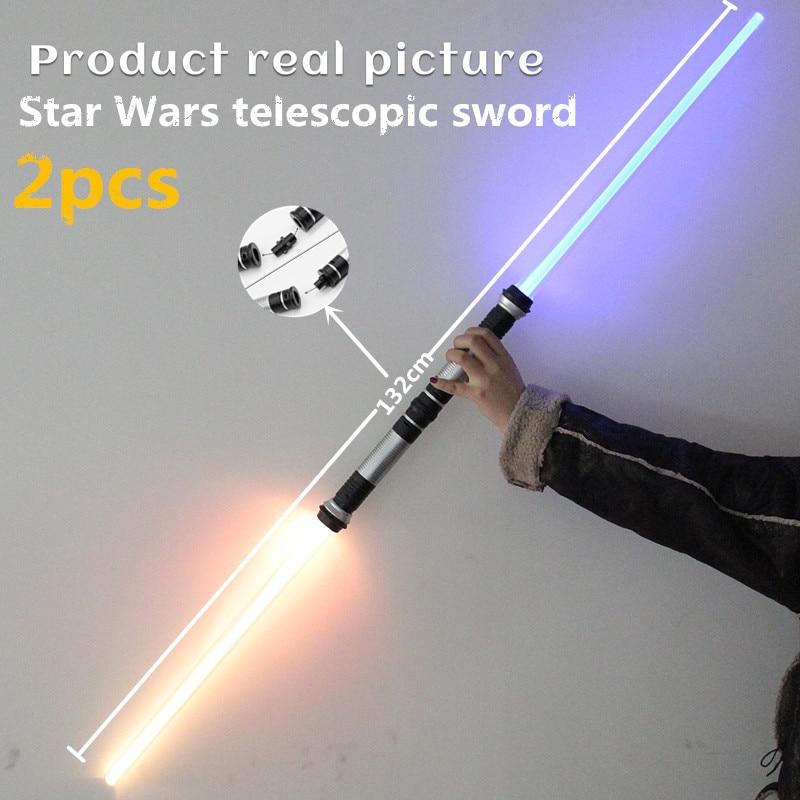 2 חתיכות Lightsaber ילד צעצועים מצחיק מלחמת - צעצועים הומוריסטיים