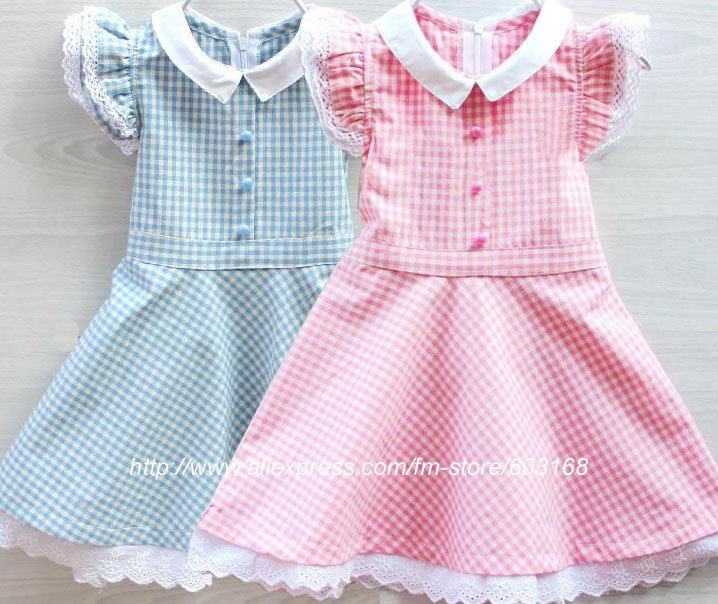 e07fc377e4a1 Hot sale Girls Dresses Plaid Print Baby  Kid s Clothing Children s Dresses  (6Pcs lot) iso 12 3 16 A4 -in Dresses from Mother   Kids on Aliexpress.com  ...