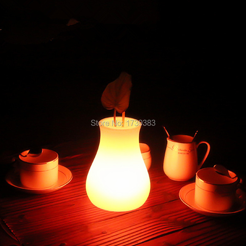 Outdoor/indoor waterproof LED Light Flower pot Multicolore OLIO Vase Lumineux plant pot of night table lamp