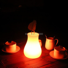 Free Shipping Outdoor/indoor waterproof LED Light Flower pot Multicolore OLIO Vase Lumineux plant of night table lamp
