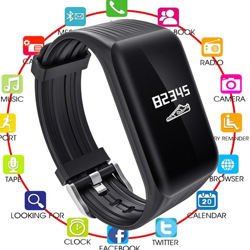 Fitness Tracker K1 Smart Armband Echt-zeit Herz Rate Monitor unten zu sec Lade 2 stunden Useing 1 wochen wasserdichte uhr Neue
